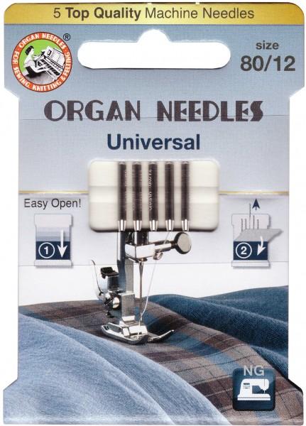Organ Universal Nadeln Stärke 80