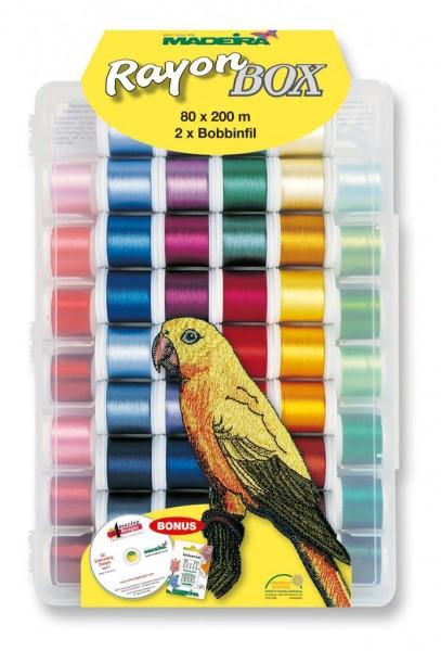 Madeira Rayon Stickgarn-Box 80 Farben