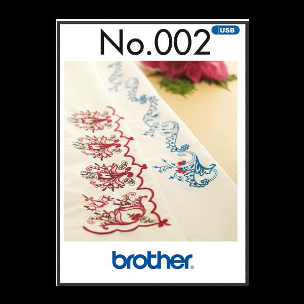 Brother Stickmuster USB Bordüre Nr.002