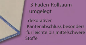 3-Faden-Rollsaum-umgelegt