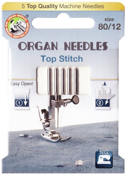 Organ Top Stitch Nadeln Stärke 80