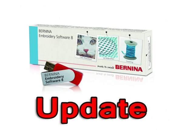 Bernina Sticksoftware DesignerPlus V8 Update (von Version 5,6,7)