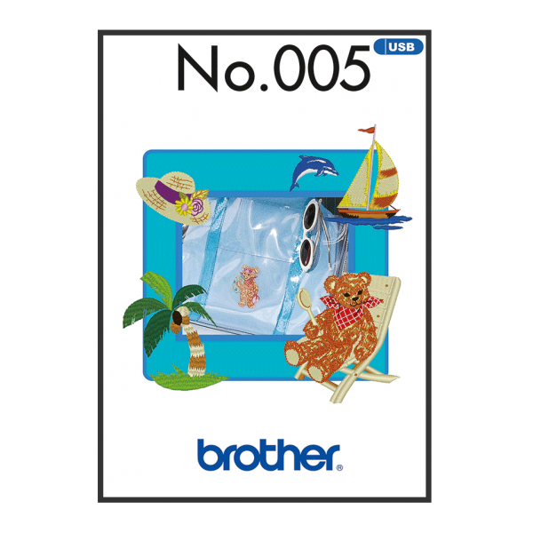 Brother Stickmuster USB Sommer Nr.005