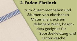 2-Faden-Flatlock