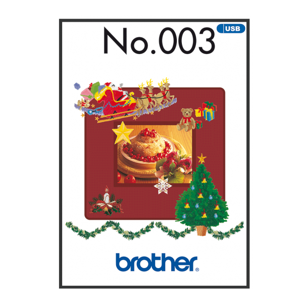 Winter Stickmuster Brother USB