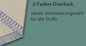 3-Faden-Overlock