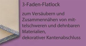 3-Faden-Flatlock