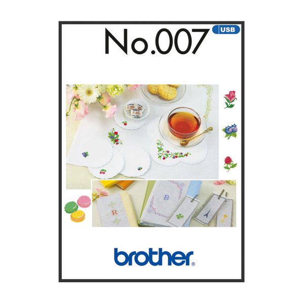 Brother Stickmuster USB Petit Point Nr.007