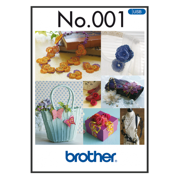 Brother Stickmuster USB 3D-Stickmuster Nr.001