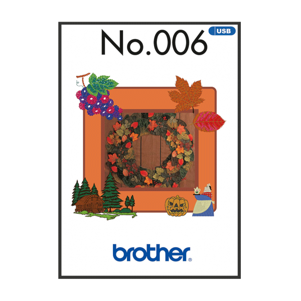 Brother Stickmuster USB Herbst Nr.006
