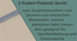 2-Faden-Flatlock-breit